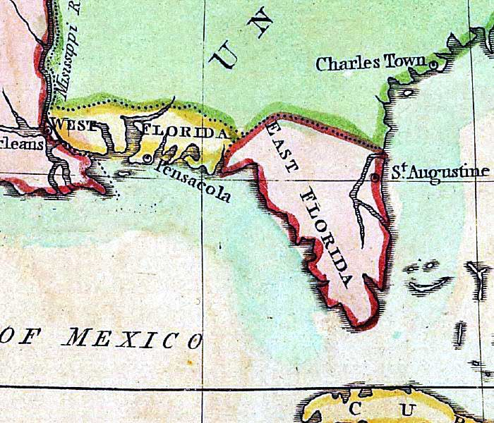 West Florida Map.Detail A Map Of North America 1803