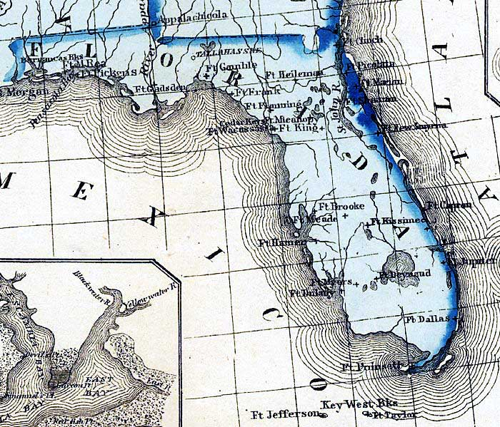 Detail Military Map Of The United States Territories - Us map 1861