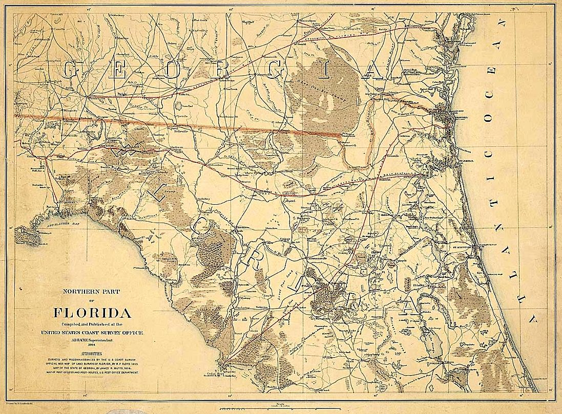 Northern Part of Florida 1864
