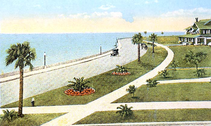 Hillsboro River, Plant Park, and Tampa Bay Hotel. Bay Shore Drive, known