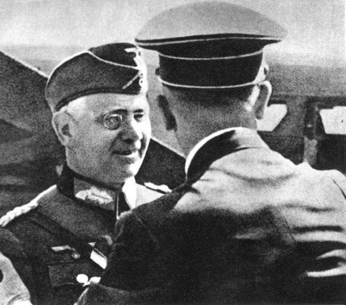 Artillery General von Reichenau with Adolf Hitler