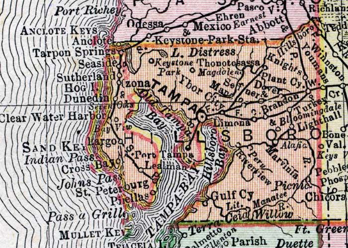 Of Hillsborough County Florida - Hillsborough county map