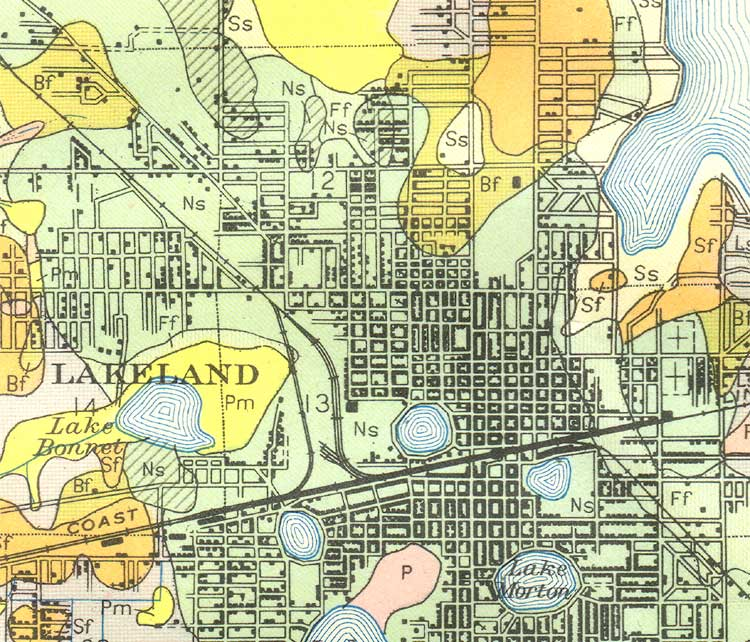 map of lakeland 1927 florida