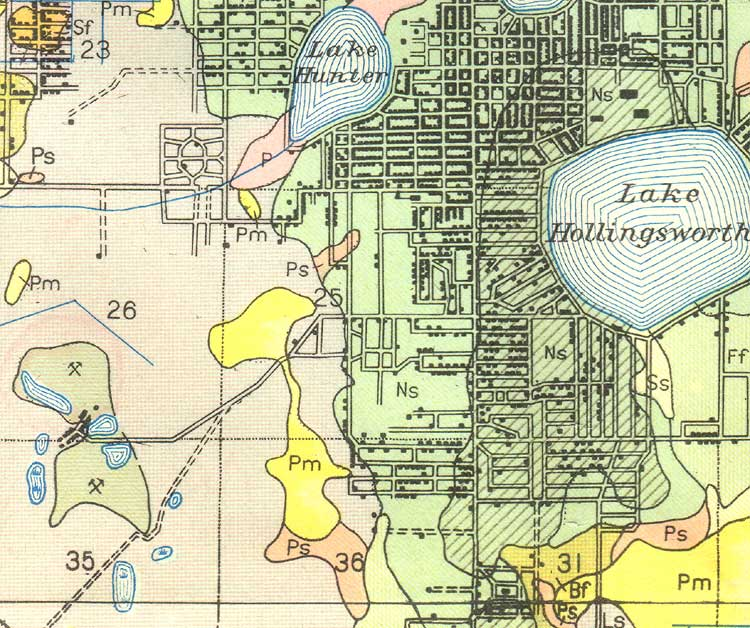 Lakeland Florida Map.Map Of Lakeland 1927 Florida
