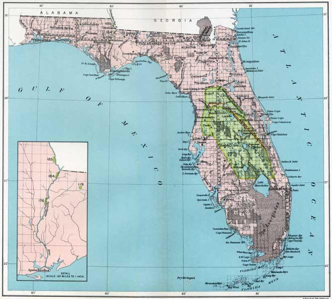 Southern Florida Map.Florida Map Florida Indian Reservations