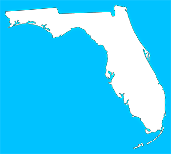 """Florida """"Plain Frame"""" Style Maps in 30 Colors"""