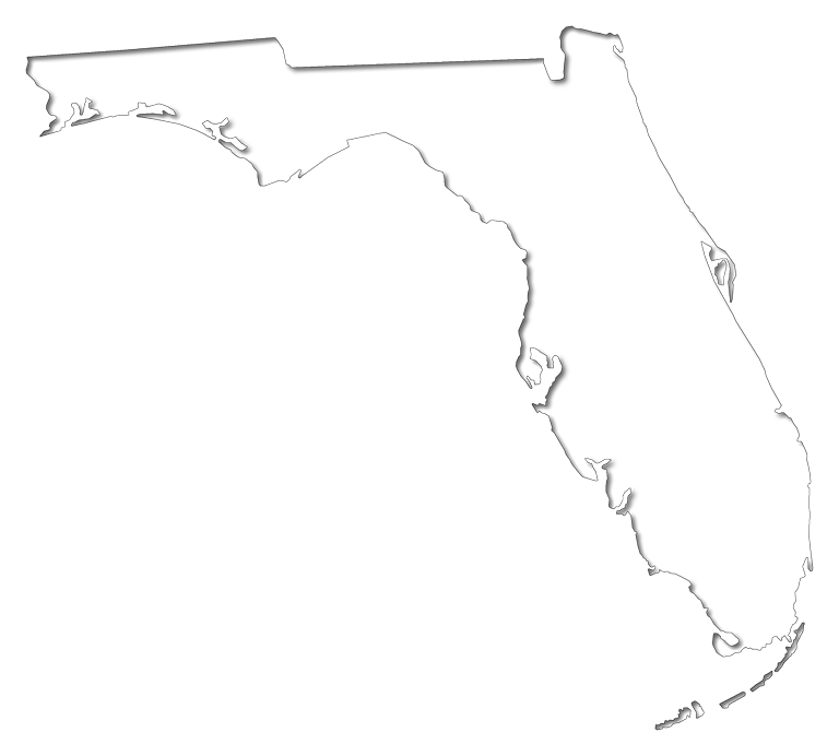 """Florida """"Fancy Frame"""" Style Maps in 30 Styles"""