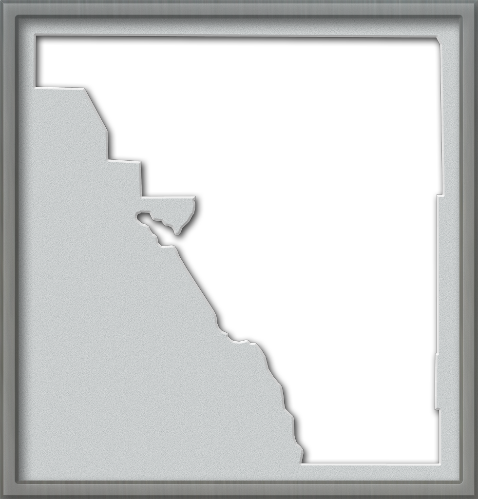 description a map of osceola with a brushed pewter frame and a bevel cut grey mat these maps are in the png format the map area itself is transparent so
