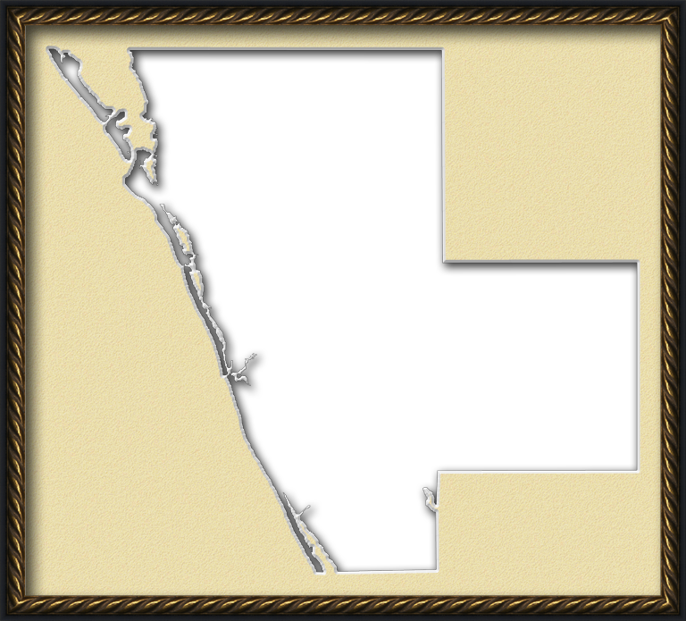 Sarasota Quot Fancy Frame Quot Style Maps In 30 Styles