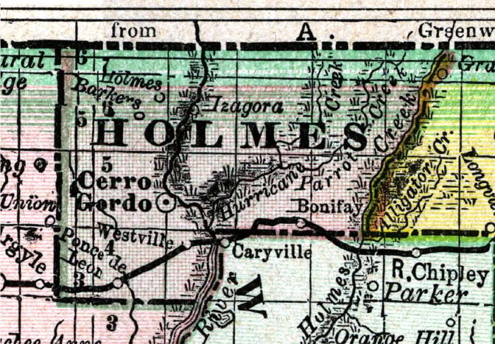 holmes county florida map