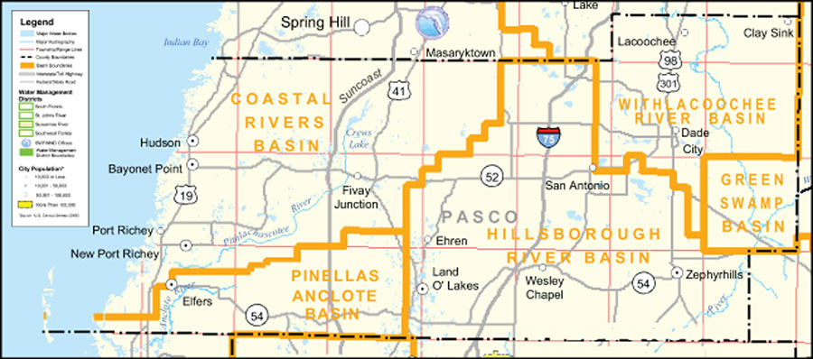 Where Is New Port Richey Florida On Florida Map.Southwest Florida Water Management District Pasco County September