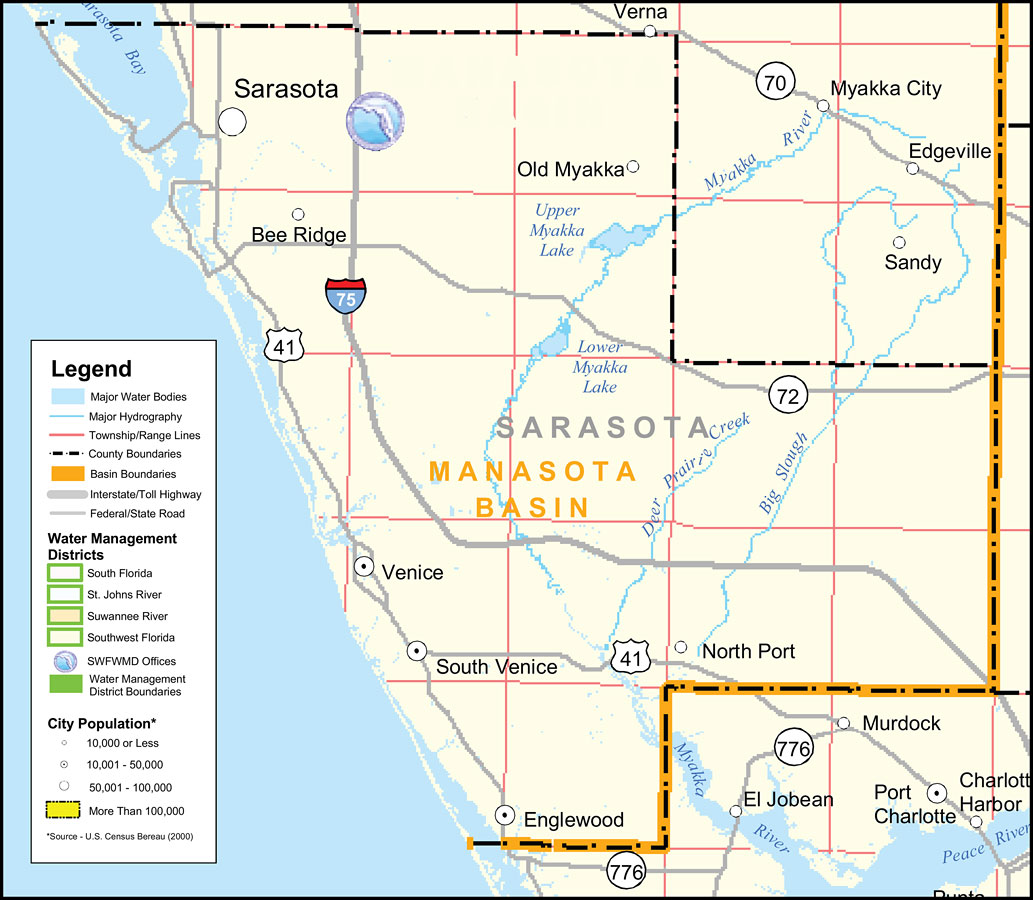 Map Of Florida Sarasota.Southwest Florida Water Management District Sarasota County