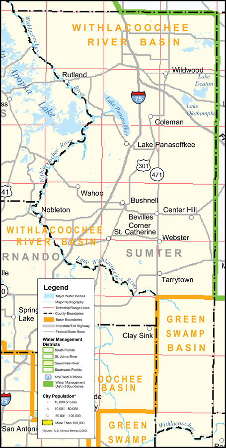 Center Hill Florida Map.Southwest Florida Water Management District Sumter County