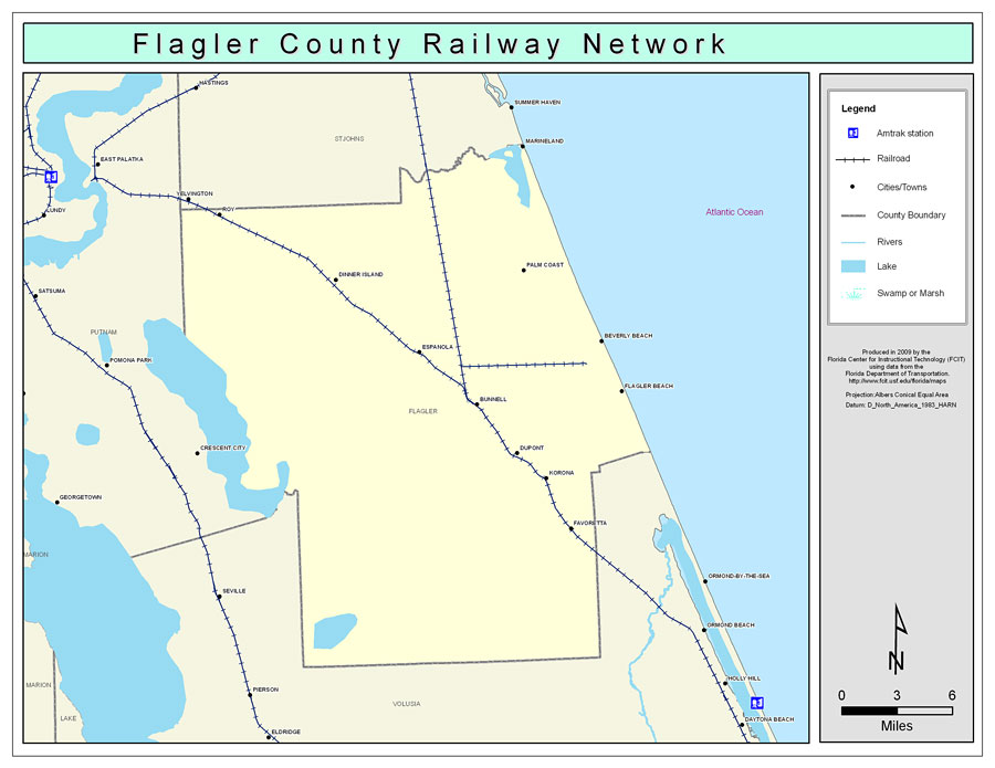 Flagler County Railway Network Color 2009