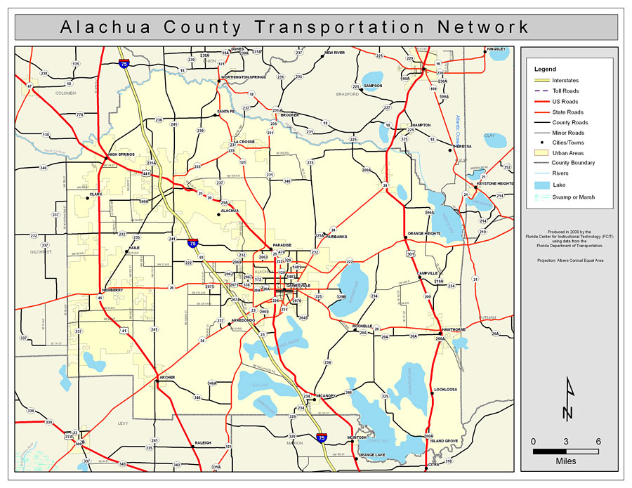 alachua county florida map