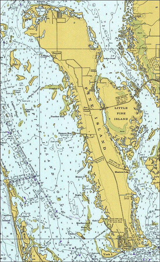 Pine Island Map Pine Island, 1977