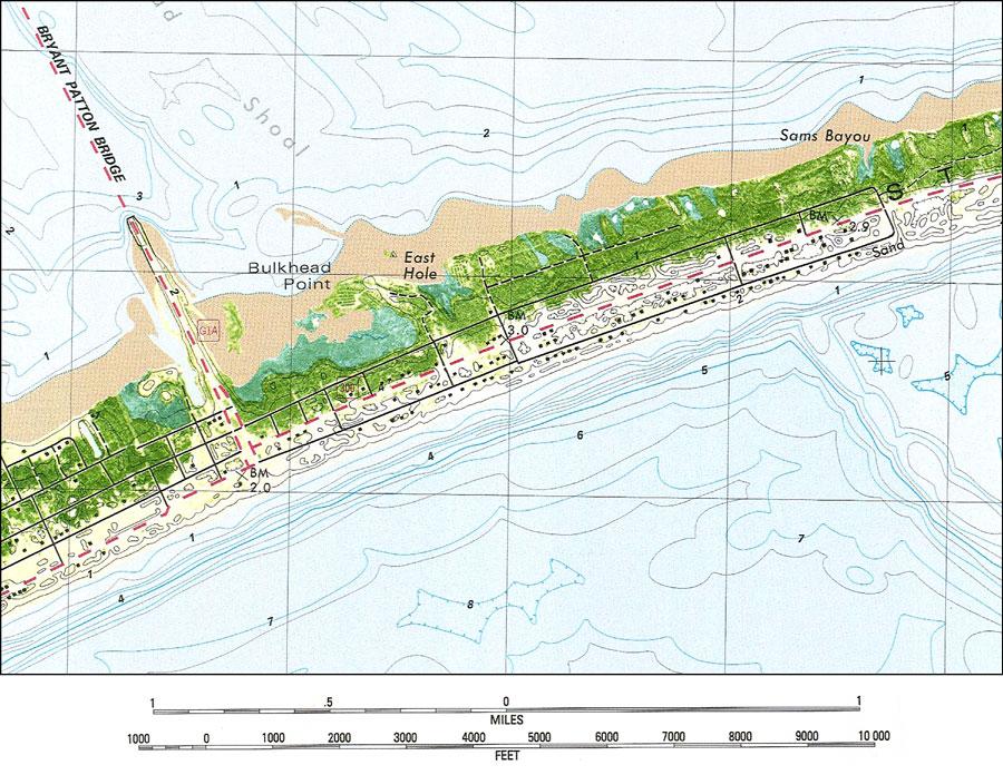 St George Island Map Saint George Island, 1982 St George Island Map