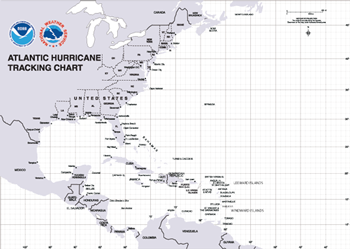 Exploring Florida: Teaching Resources for Science  |Atlantic Hurricane Tracking Map