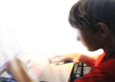 Blurred Boy Background