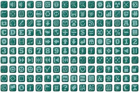 Aqua Icon Buttons