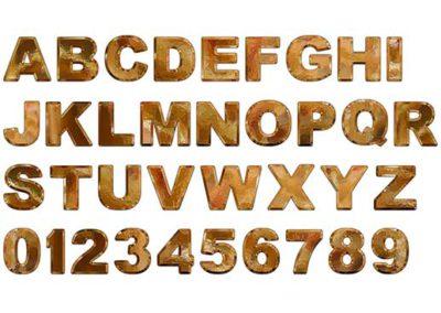 Gold Leaf Alphabet