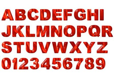 Red Glass Alphabet