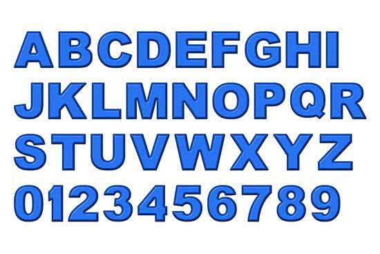 Blue Refrigerator Magnet Alphabet