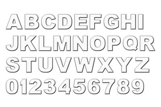 White Refrigerator Magnet Alphabet