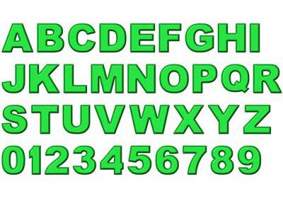 Green Refrigerator Magnet Alphabet