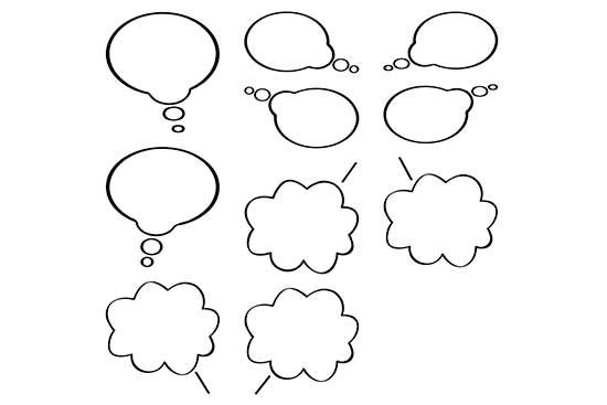 Thought Bubbles (10 Variations)