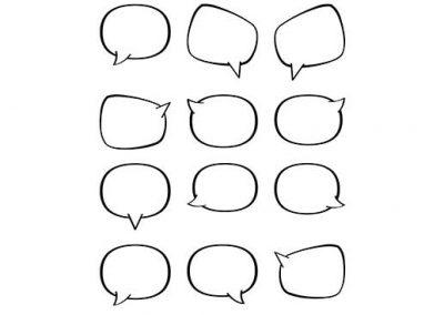 Blank Word Balloons (12 Variations)