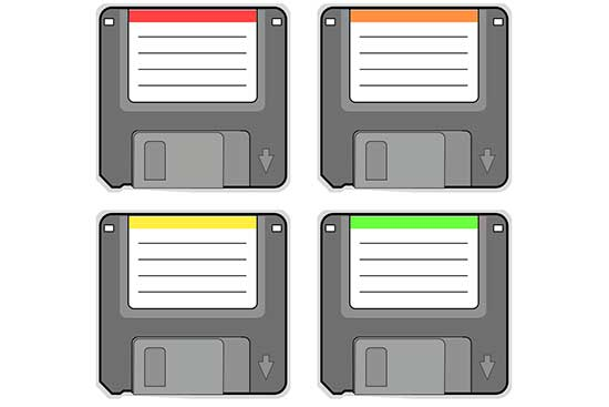 Diskettes (Multiple Colors)
