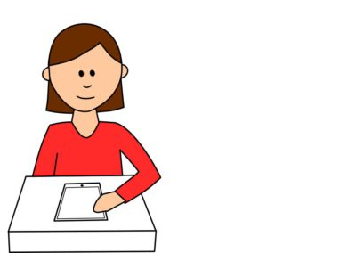 Using Tablet at Desk (2 Variations)
