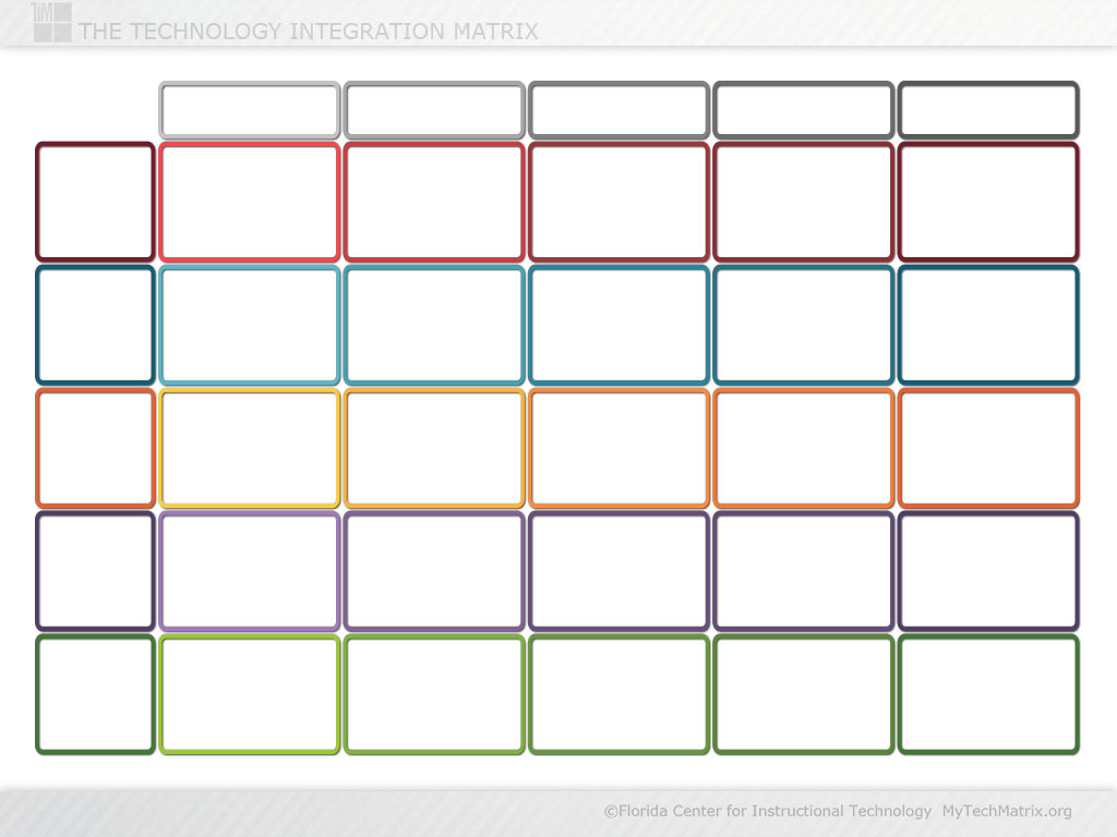 Blank Color Technology Integration Matrix Slide | TIM