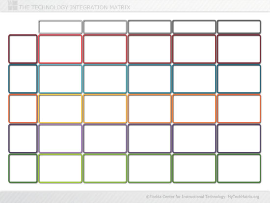 Blank Color Technology Integration Matrix Slide