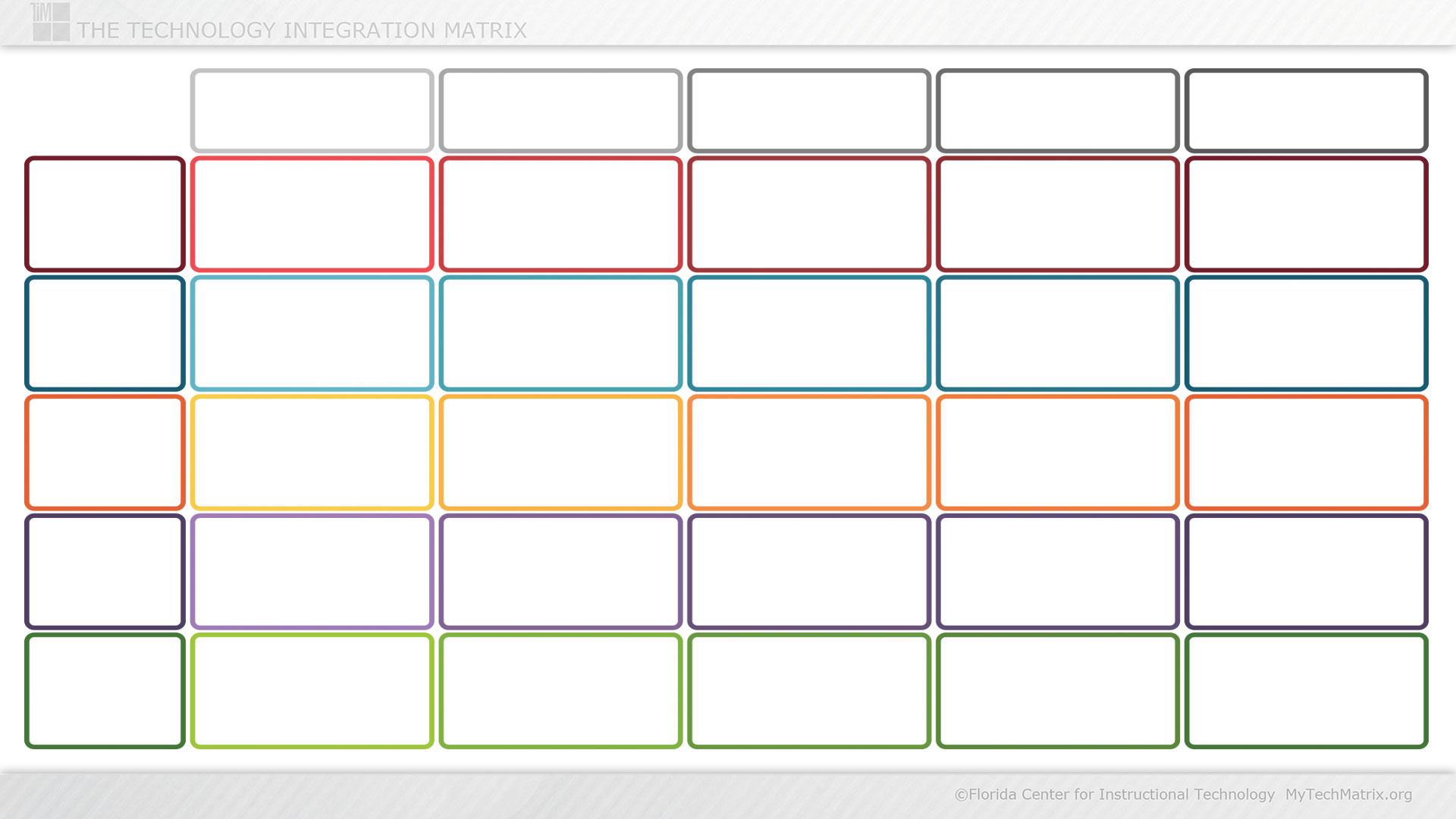 Blank Color Technology Integration Matrix Slide | TIM