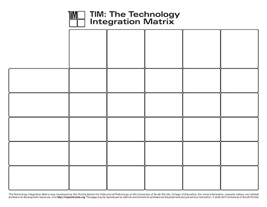 Blank Technology Integration Matrix