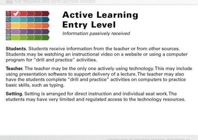 Active Entry Slide