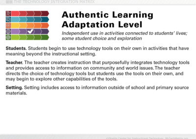 Authentic Adaptation Slide