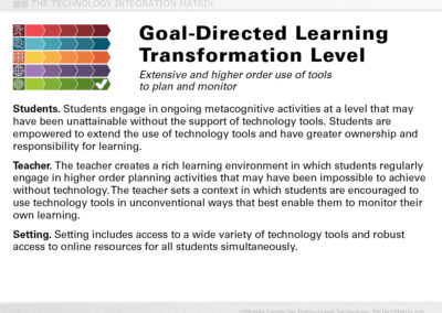 Goal-Directed Transformation Slide