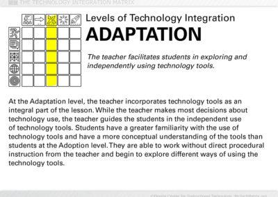 Adaptation Level Text Slide
