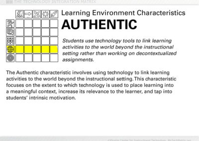 Authentic Learning Text Slide