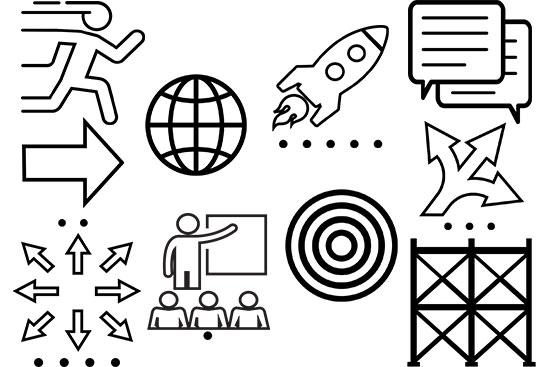 Black Outline TIM Icons (Complete Set)