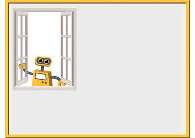 Robot 45: Open Window Background Slide