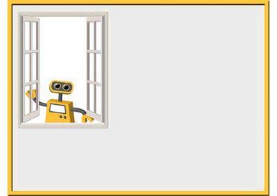 Robot 45: Open Window Background Slide