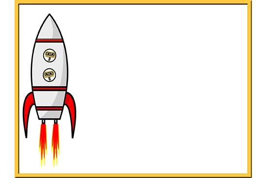 Robot 52: Rocket Background Slide