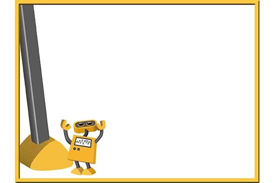 Robot 54: Giant Robot Background Slide