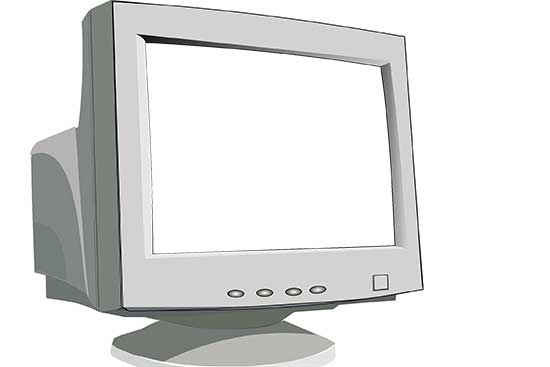 Old CRT Monitor with Knockout