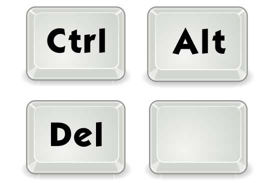 Ctrl-Alt-Del and Blank Keys