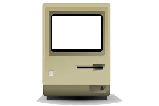 Mac All-In-One Computer with Screen Knockout